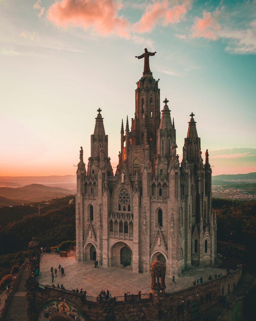Sagrat Cor overlooking Barcelona Spain